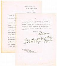 1919 (31 July) Irish-American publisher S. S. McClure signed letter relating to Ireland