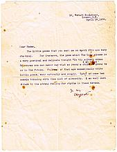 1908 (28 April) William Butler Yeats signed letter