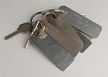 1980s: Long Kesh (The Maze Prison) Key tags including Hall Guard, H6, ABF Master etc. (9)