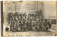 1911: Royal Irish Constabulary Band real photographic postcard