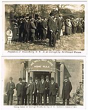 circa 1910: Collection of Unionist and Anti-Home Rule postcards