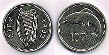 Ten pence, 1992 extremely rare test coin.