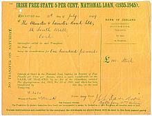 19th and 20th Century: Collection of Irish interest share certificates