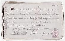 1877: Collection of Carlow Jail pay and suppliers receipts