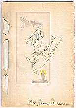 1928 (13 May) Transatlantic Flight Milwaukee Dinner Menu signed by Fitzmaurice, Von Hunefeld and Koehl