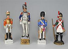 Napoleonic Wars: collection of handpainted porcelain figurines of soldiers (9)