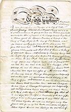 1813: Irish legal declaration signed by Lord Frankfort