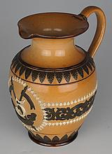 circa 1900: Doulton Lambeth 5th Royal Irish Lancers jug