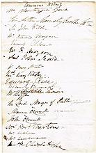 1842 (1 June) House of Commons and House of Lords addresses signed by members of parliament