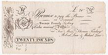 18th-19th Century: Irish promissory notes and banking receipts