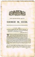 1806-1820: Collection of printed George III Acts for Ireland