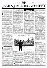 James Joyce Broadsheet, a complete run 1-95, 1980 to 2013  (3 folders)