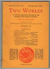 [Joyce, James]. Two Worlds edited by Samuel Roth, Volume 1, parts 1-4, including parts of Finnegan's Wake.