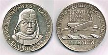 1928 (13 April) Von Hunefeld, Kohl and Fitzmaurice East West transatlantic medal