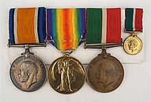 1914-1918: Royal Air Force and Merchant Navy First World War medal group