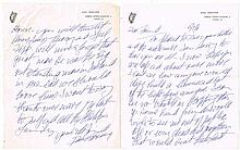 Breen, Dan. Manuscript Letter on Dail Eireann Letterhead 15th, July, 1961