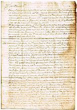 1691: Original letter relating to William of Orange's campaign in Ireland
