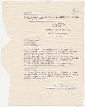 1930-1933: Royal Ulster Constabulary correspondence relating to IRA activity