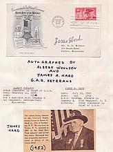 [1861-65] American Civil War veterans autographs on 1949-51 first day covers