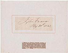 1842 (May 30) Signature of John Francis on the day he attempted to assassinate Queen Victoria