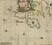 17th Century: Van Keulen Sea Chart of the British Isles