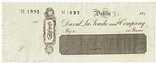 1832-1845. David La Touche and Company and Ball's Bank cheques and bills.