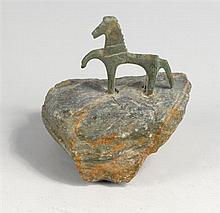 circa 100BC-100AD. Celtic bronze votive horse.