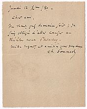 Charles Gounod (1818-1903), French composer. Handwritten signed letter.