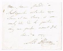 Adolphe Adam (1803-1856), French composer. Two handwritten signed notes. (2)