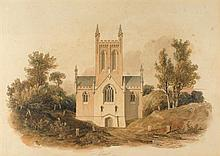 circa 1808: Architectural watercolours of Tullamore Church, Offaly (3)