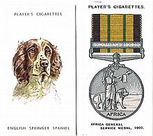 Player's 'Dogs Heads by Biegel' Set of 50 1955 and 'Decorations & Medals' Set of ?? 1940 (??)