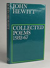 Hewitt, John. Collection of signed books and publications