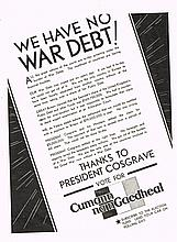 WE HAVE NO WAR DEBT! and OUR NATIONAL CREDIT IS SOUND!