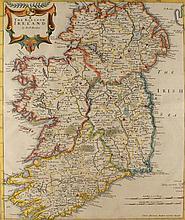 circa 1695: The Kingdom of Ireland Map by Robert Morden