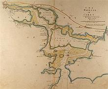 18th Century: Irish sea charts including Cork and Dublin