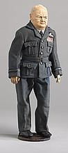 Winston Churchill doll by Frances and Lillian (