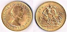 Elizabeth II gold sovereign 1968.
