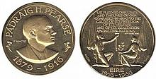 1966 Easter Rising 50th Anniversary gold medal by Paul Vincze.