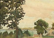 John Luke RUA (1906-1975) VIEW OF BELFAST LOUGH