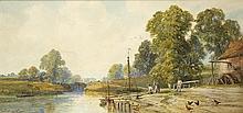 John Faulkner RHA (1835-1894) NEAR RICKMANSWORTH, GRAND JUNCTION