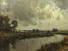 James Humbert Craig RHA RUA (1877-1944) RAIN STORM, COUNTY ANTRIM, c.1920