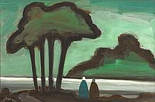 Markey Robinson (1918-1999) TWO SHAWLIES UNDER A TREE