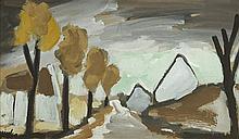 Markey Robinson (1918-1999) VILLAGE IN AUTUMN