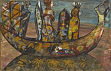 Gerard Dillon (1916-1971) DECORATED CANOE