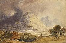 19th Century British School  FOREGOING THE KISHON, CARMEL and SICHEM, SAMARIA (A PAIR)