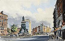 Colin Gibson RUA (b.1948) O'CONNELL STREET BRIDGE, DUBLIN and TRINITY COLLEGE, DUBLIN (A PAIR)