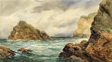 Alexander Williams RHA (1846-1930) COAST OF ACHILL ISLAND, COUNTY MAYO and THE NEEDLES, HOWTH, DUBLIN BAY