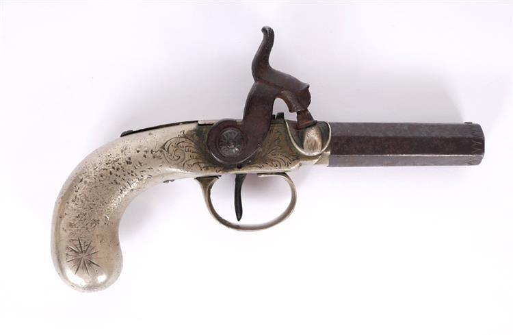 An early 19th century percussion pocket pistol.
