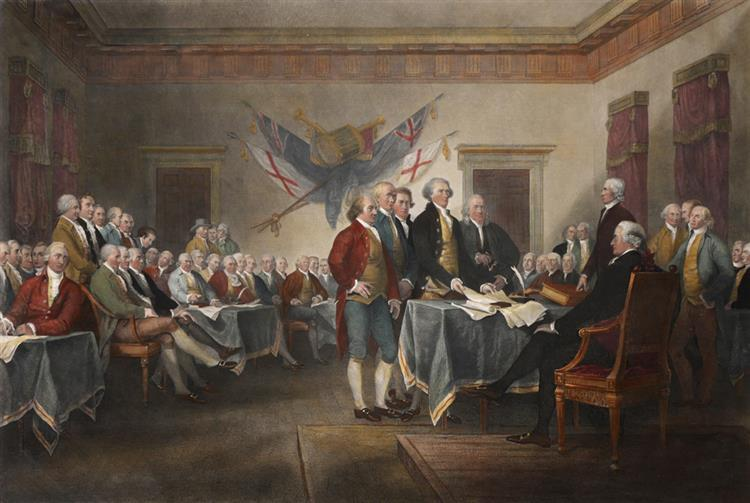 1820, Signing of the American Declaration of Independence July 4th 1776.