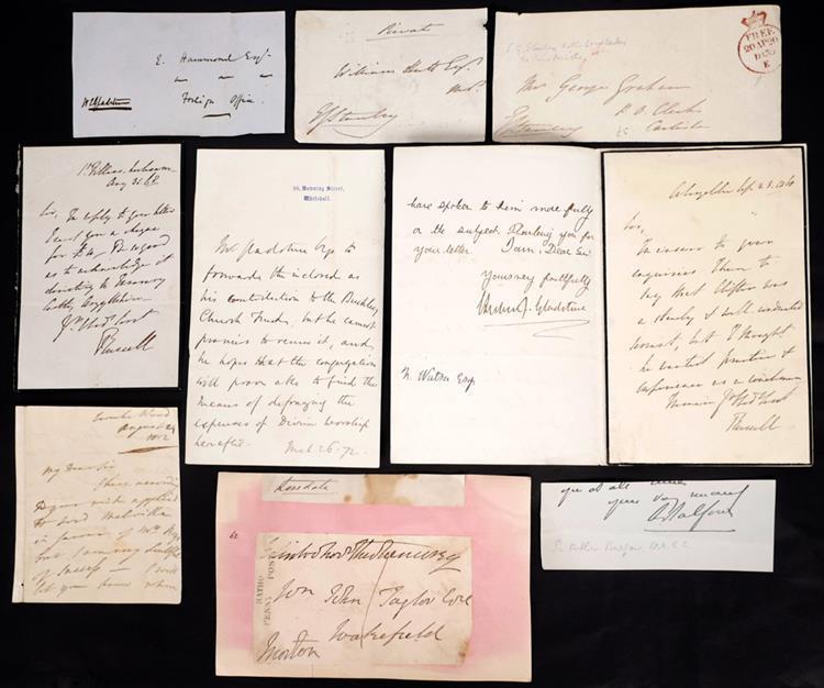 British Prime Ministers' signatures. (10)